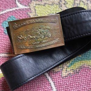 Accessories - Vintage Tiffany & Co Wells Fargo Brass Belt Buckle